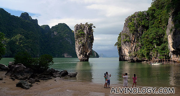 On the shores of James Bond Island