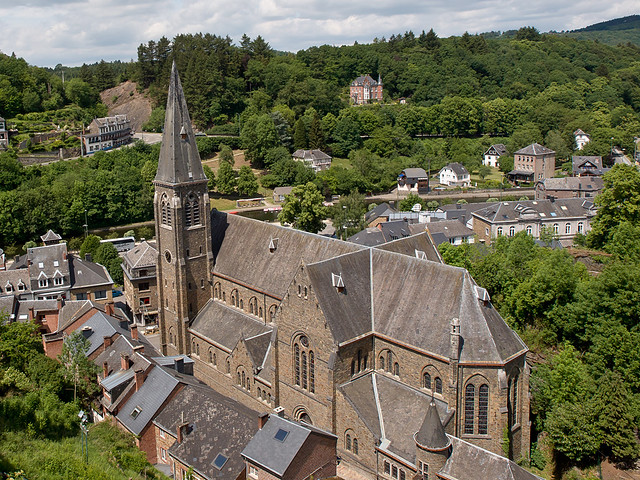 De kerk in  La Roche-en-Ardenne