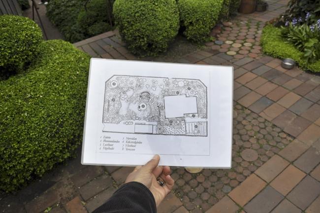 Ulla Molins trädgårdsritning