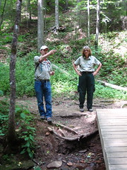 """Ben and Ranger Candace Wyman guiding the inventory hike. • <a style=""""font-size:0.8em;"""" href=""""http://www.flickr.com/photos/61177391@N02/5835695531/"""" target=""""_blank"""">View on Flickr</a>"""