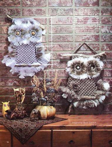 Zookie Owl - Accenting With Macrame 1979