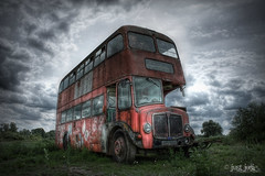 The Bus To Nowhere (Just Josie) Tags: urban bus abandoned coach decay derelict hdr decayed doubledeckerbus decaying urbex abandonedbus derelictbus abandonedtransport