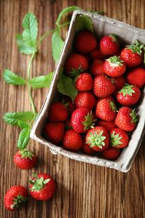 strawberries // mint