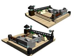 lego military vignette diorama outpost microscale