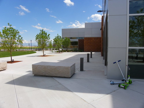 Exterior with scooters - Herriman Library, Salt Lake County Library Services
