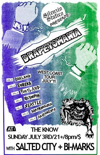 7/3/11 Drapetomania/SaltedCity/BiMarks