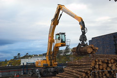 JST Services Liebherr A 934 C Litronic (Mrtainn) Tags: scotland highlands alba forestry