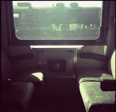 on train (jenci975) Tags: 6x6 film analog fuji agfa expired provia isola