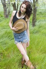Taylor (austinspace) Tags: portrait woman hat washington cowboy spokane farm stomach redhead belly cheney sunburn brunette backroad afterathunderstorm