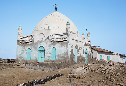Jan 14 - Shrine of Ibrahim Zeilici  (13th cent.) in Zeila, 'the city of light', Somaliland