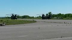 20140607-Z-Clark-017 (New York National Guard) Tags: 3rdbattalion det1 2ndbattalion senecaarmydepot nysoldiersofdeltacompany 108thinfantryfromithaca hadtheuniqueopportunitytotrainwithtwoch47chinookhelicoptersandtheircrewsfrombravocompany 126thaviationoutofrochesterthetrainingtookplaceatsenecaarmydepotlocatedintheheartofthefingerlakesbetweensenecaandcayugalakesnewlytrainedpathfinderandairassaultsoldierstrainedthecompanyonhowtoslingloadthecodup theflightcrewsverifiedtheloadsandgaverehearsalsfortheloadingandunloadingtheaircrafteachofthetrainedhookupcrewsrotatedthroughhookingtheslingloadsupandthechinooksflewashortpatternwiththe5 000lbsand12 000lbshumveeseachofthefourassaultplatoonsincodwereflownaroundcanandaiguaandkeukalakeswhileaboardthehelicoptercaptclarkwasabletopromotespcjoshuameriwethertosergeant