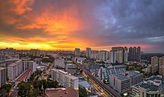 Cityscapes of Singapore - Epic Sunset (gintks) Tags: gintaygintks gintks singapore singaporetourismboard singapur sg51 epicsunset landscapes yoursingapore exploresingapore fierysunset sunsetglow