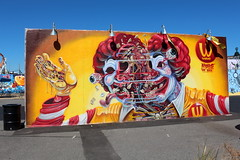 Coney Island - Coney Art Walls: Nychos (wallyg) Tags: brooklyn coneyartwalls coneyisland kingscounty newyork newyorkcity ny nyc streetart nychos mcdonalds mural ronaldmcdonald