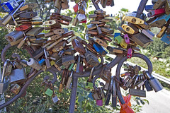 (ngiambr1) Tags: locks love italy piazzale michelangelo colors hike rust old new keys florence