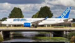 Bombardier Bombardier CS300 C-FFDO (Aviation and Travel photography) Tags: airplanepictures aviation schiphol amsterdam bombardier airbaltic cs300 series airport outdoor bridge airplane aircraft air jetliner jet luchthaven