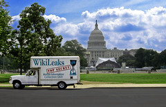 wikileaks truck capitol hill (Wikileaks Mobile Information Collection Unit) Tags: art mobile truck typography freedom design words dc washington julian war branch graphic box top secret text iraq hill performance collection capitol congress bradley prank murder government uhaul activism anonymous speech information senate manning unit legislative artivism wikileaks assange