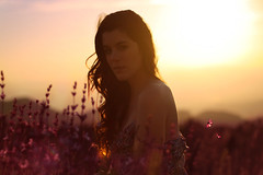 The most beautiful sunset ever (explored) (Lucia Rubio) Tags: pink flowers sunset summer sun flores sol beautiful yellow atardecer bonito autoretrato longhair butterflies rosa amarillo verano puestadesol mariposas selfprotrait pelolargo womanportrait luciarubio
