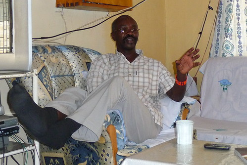 Father Sankale in his office