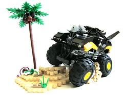 Even Batman likes to dune-buggy (aabbee 150) Tags: ride lego batman even newest likes introducing dunebuggy batmans thebatdozer