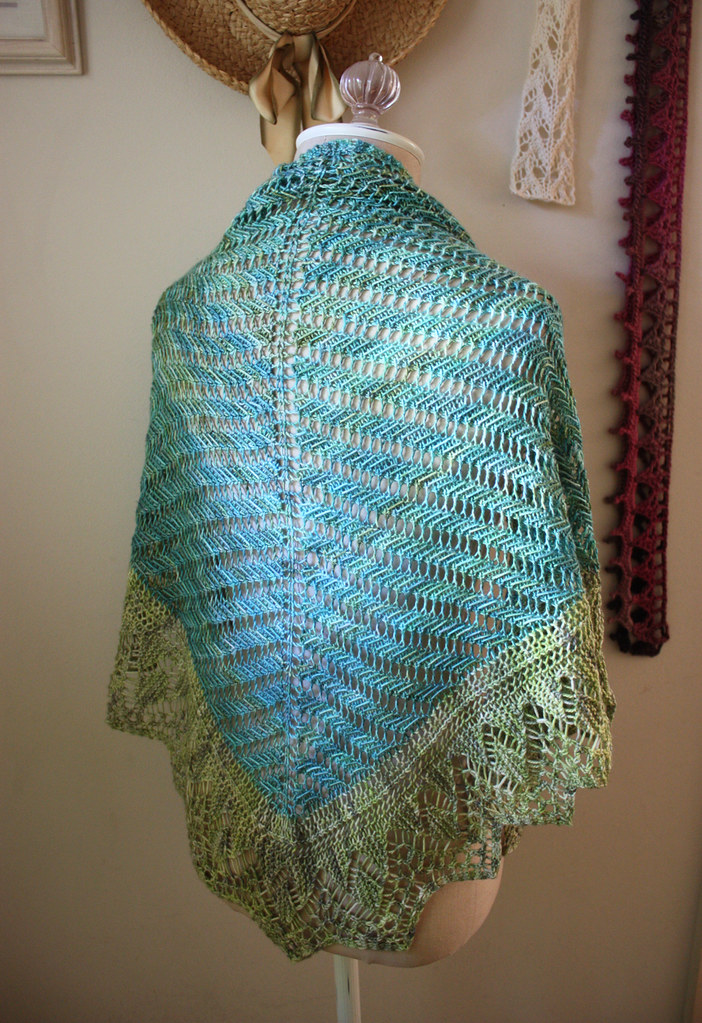 New shawl - doesn't even have a name yet!