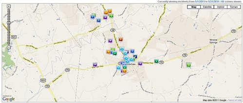 Waxhaw Crime Report May 2011
