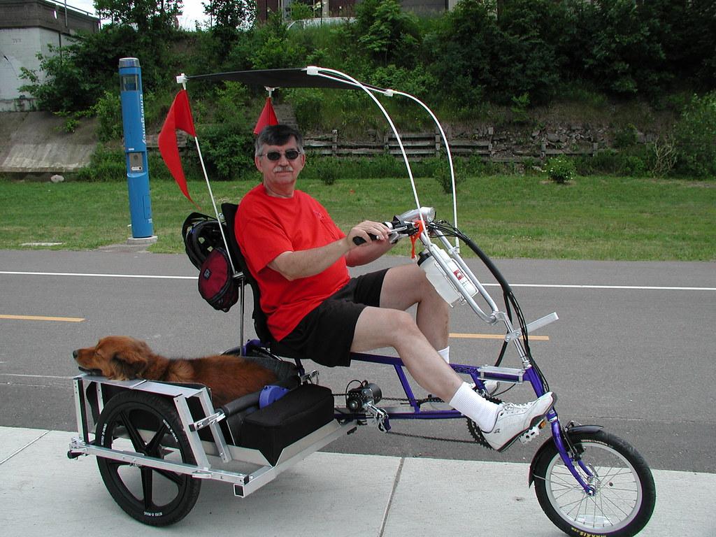 Recumbent Bike with Sidecar