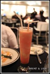 Dinner and a Drink (MunchYYC) Tags: cruise alaska dinner canon restaurant drink disney alcohol 7d cruiseship disneywonder straws disneycruiseline strawberrydaiquiri animatorspalate canon7d rotationaldinner