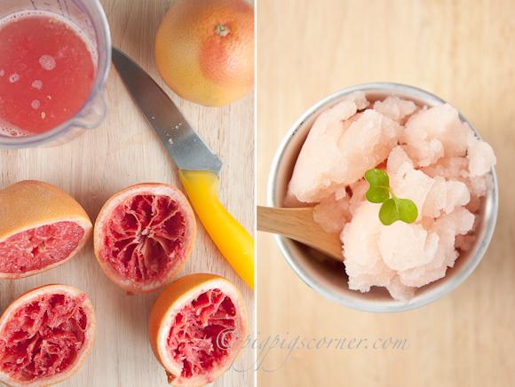 Pink Grapefruit-Asti Sorbet