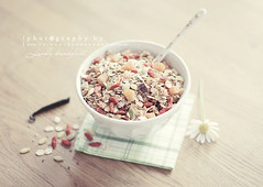 Lovely breakfast ( n e l i a) Tags: food flower breakfast healthy soft pretty homemade vanilla muesli