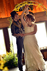 The Dance (Simply Vintagegirl) Tags: wedding love smile outside outdoors groom bride joy marriage husband wed bethany wm romance ring will wife bouquet embrace inspire marry firstkiss