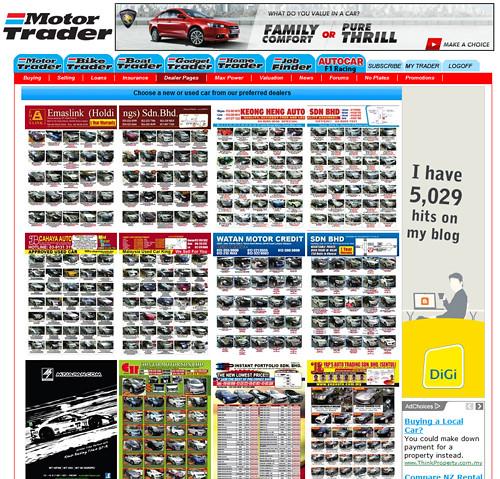 Old Motor Trader Dealer Page