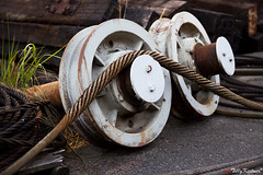 Old train wheel (Benjamin von Tilly Kistner) Tags: old travel urban abandoned train canon germany de geotagged deutschland photography eos photo rust europe photos steel hamburg rusty sigma rope german tau hafen rost rostig rundown verlassen habour habor eisen norddeutschland seil heruntergekommen trainwheel veddel 1750mm sigma175028 sigma1750 platinumheartaward canoneos60d eos60d mygearandme dblringexcellence tplringexcellence 1750mmf28exdcoshsm