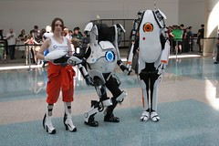 Chell, Atlas, Peabody - Portal 2 - Anime Expo