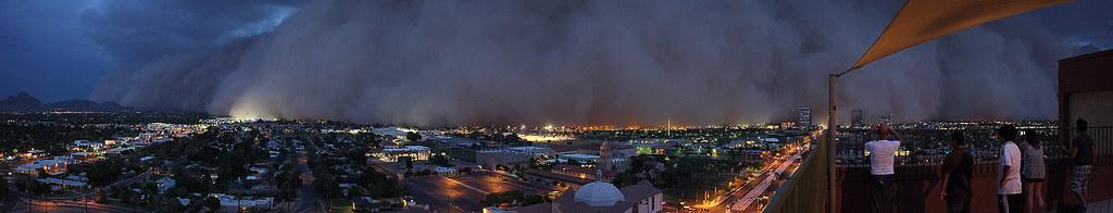 Phoenix Arizona Haboob Panorama 7/5/2011 by crmarks, on Flickr