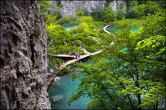 Travertine landscape (katepedley) Tags: park trees summer people plants lake canon river landscape waterfall path lakes calcium national limestone boardwalk 5d gorge lower balkans peninsula travertine eastern karst 1740mm yugoslavia calcite balkan plitvice plitvicka carbonate polariser slavic jezera korana plitvikajezera