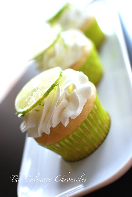 Fluffy Lime Cupcakes with Lime Whipped Cream