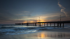 for Nina (Andy Kennelly) Tags: venice sunset seascape beach reflections landscape for pier long exposure day waves xo nina goodbye fornow grandmapassed pwpartlycloudy