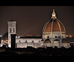 """La verit  che...     #3 (Celeste Messina) Tags: light sepia night florence nikon cathedral belltower campanile tuscany cupola dome firenze duomo toscana notte luce brunelleschi giotto seppia piazzalemichelangelo d5000"
