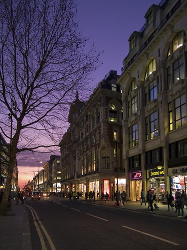 Oxford street at dusk -  London
