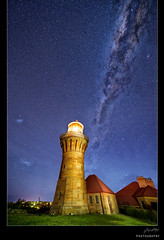 Star tower (Jay Daley) Tags: lighthouse night stars nikon sydney galaxy universe headland barrenjoey milkyway northernbeaches d4 1424