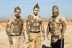 Mud Men (No Stone Unturned Photography) Tags: sea men beard mud favorites topless mohawk volcanoes muddy urbanexploring urbex salton skatchkins