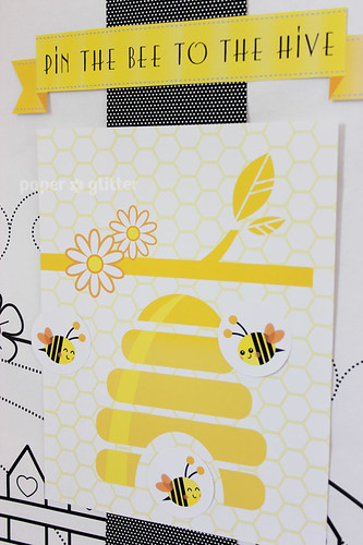 birthday paper girl boy shower baby queen bee kawaii cute template    Queen Bee Template