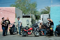 like a prayer II (bytegirl24) Tags: street newmexico santafe men motorcycles bikes sidewalk harleydavidson hogs harleys