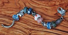 My TB bracelet, swimming away. (Athanassia) Tags: glass armband silver beads bracelet charms glas kralen zilver trollbeads bedels alexcramariuc acakreations