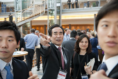 Hyung Koo Yeo at the cocktail reception