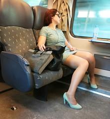 woman train candid samsung smartphone galaxy s2... (Photo: Rob Kints (Robk1964) on Flickr)