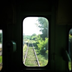 Treno natura: panorama dal treno (falco di luna) Tags: toscana tuscany trenonatura panorama crete senesi littorina