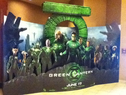 Ptw Lifesized Green Lantern display at Rivertown Theater