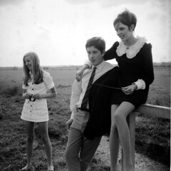 Annabel (left), John, Jeni, Summer 1968. by ncay -