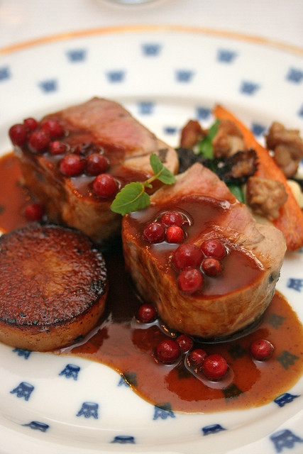 Spiced Veal Loin with Morels